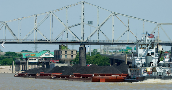 Coal on barge